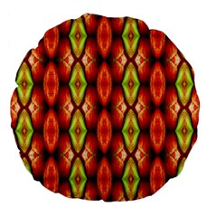 Melons Pattern Abstract Large 18  Premium Flano Round Cushions