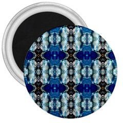 Royal Blue Abstract Pattern 3  Magnets