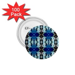 Royal Blue Abstract Pattern 1 75  Buttons (100 Pack)  by Costasonlineshop