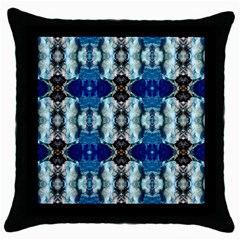 Royal Blue Abstract Pattern Throw Pillow Cases (black) by Costasonlineshop
