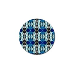 Royal Blue Abstract Pattern Golf Ball Marker (10 Pack)