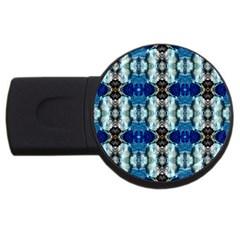 Royal Blue Abstract Pattern Usb Flash Drive Round (2 Gb)