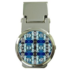 Royal Blue Abstract Pattern Money Clip Watches