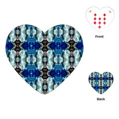 Royal Blue Abstract Pattern Playing Cards (heart)