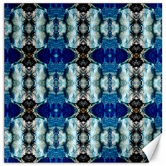 Royal Blue Abstract Pattern Canvas 20  X 20   by Costasonlineshop
