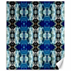 Royal Blue Abstract Pattern Canvas 20  X 24   by Costasonlineshop