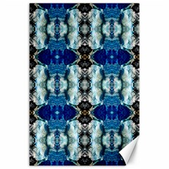 Royal Blue Abstract Pattern Canvas 20  X 30