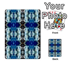 Royal Blue Abstract Pattern Multi Purpose Cards (rectangle)
