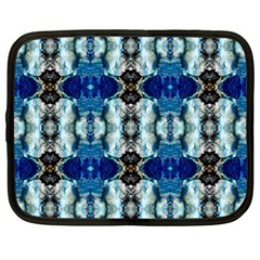 Royal Blue Abstract Pattern Netbook Case (large)