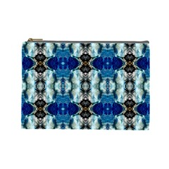 Royal Blue Abstract Pattern Cosmetic Bag (large)  by Costasonlineshop
