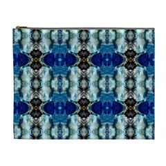 Royal Blue Abstract Pattern Cosmetic Bag (xl)