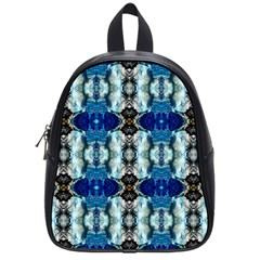 Royal Blue Abstract Pattern School Bags (small)  by Costasonlineshop