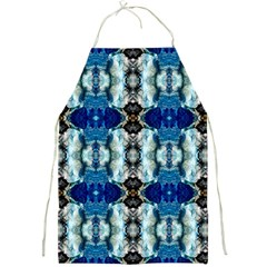 Royal Blue Abstract Pattern Full Print Aprons by Costasonlineshop