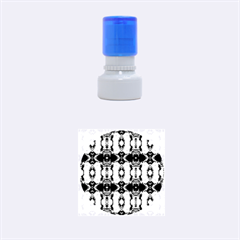Royal Blue Abstract Pattern Rubber Round Stamps (small) by Costasonlineshop