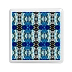 Royal Blue Abstract Pattern Memory Card Reader (Square)  by Costasonlineshop