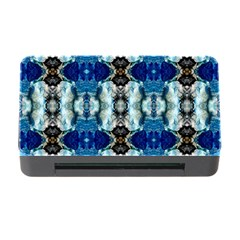 Royal Blue Abstract Pattern Memory Card Reader With Cf by Costasonlineshop
