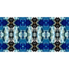 Royal Blue Abstract Pattern YOU ARE INVITED 3D Greeting Card (8x4)  by Costasonlineshop