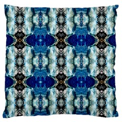 Royal Blue Abstract Pattern Large Cushion Cases (one Side)  by Costasonlineshop