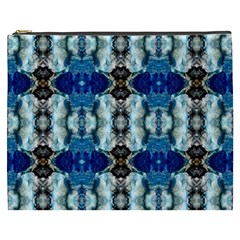 Royal Blue Abstract Pattern Cosmetic Bag (xxxl)