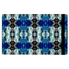 Royal Blue Abstract Pattern Apple Ipad 3/4 Flip Case