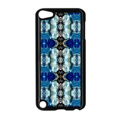 Royal Blue Abstract Pattern Apple Ipod Touch 5 Case (black) by Costasonlineshop