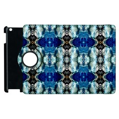 Royal Blue Abstract Pattern Apple Ipad 3/4 Flip 360 Case by Costasonlineshop