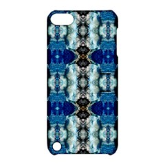 Royal Blue Abstract Pattern Apple Ipod Touch 5 Hardshell Case With Stand by Costasonlineshop