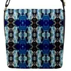 Royal Blue Abstract Pattern Flap Messenger Bag (s)