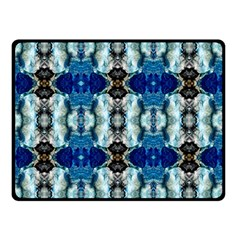 Royal Blue Abstract Pattern Double Sided Fleece Blanket (small)