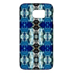 Royal Blue Abstract Pattern Galaxy S6 by Costasonlineshop
