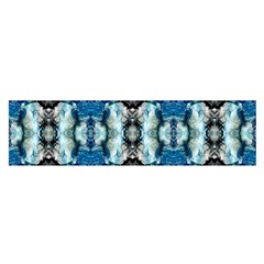 Royal Blue Abstract Pattern Satin Scarf (oblong) by Costasonlineshop