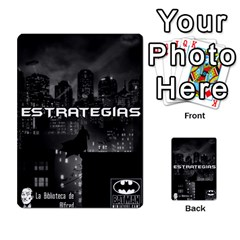 Batman Strategy Cards By Juan Diego   Multi Purpose Cards (rectangle)   N1oz9y9wrjw1   Www Artscow Com Back 38