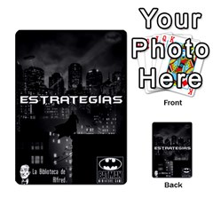 Batman Strategy Cards By Juan Diego   Multi Purpose Cards (rectangle)   N1oz9y9wrjw1   Www Artscow Com Back 48