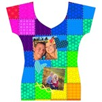 Rainbow Stitch - Women s V-Neck Cap Sleeve Top