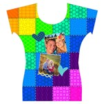 Rainbow Stitch - Women s Cap Sleeve Top