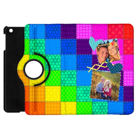 Rainbow Stitch By Digitalkeepsakes   Apple Ipad Mini Flip 360 Case   7a8luud7fb32   Www Artscow Com Front