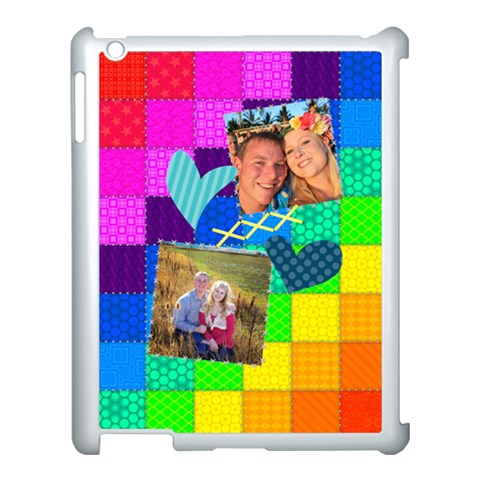 Rainbow Stitch By Digitalkeepsakes   Apple Ipad 3/4 Case (white)   Wnstzz2gcdjj   Www Artscow Com Front
