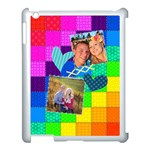 Rainbow Stitch - Apple iPad 3/4 Case (White)