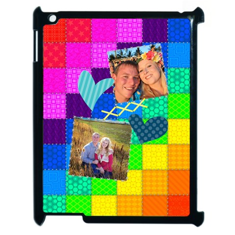 Rainbow Stitch By Digitalkeepsakes   Apple Ipad 2 Case (black)   M4rd9ys2suba   Www Artscow Com Front