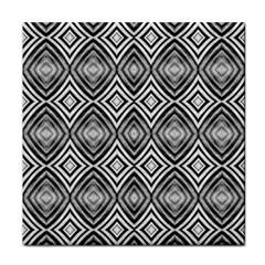 Black White Diamond Pattern Tile Coasters