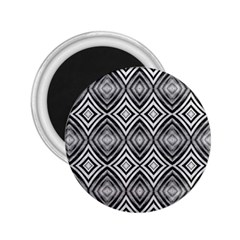 Black White Diamond Pattern 2 25  Magnets