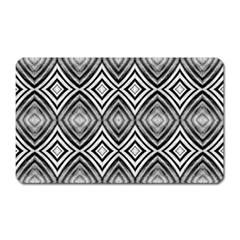 Black White Diamond Pattern Magnet (rectangular)