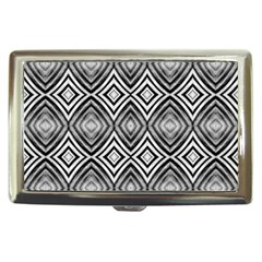 Black White Diamond Pattern Cigarette Money Cases by Costasonlineshop