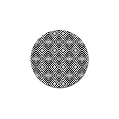 Black White Diamond Pattern Golf Ball Marker by Costasonlineshop