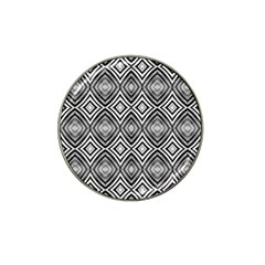 Black White Diamond Pattern Hat Clip Ball Marker (4 Pack) by Costasonlineshop
