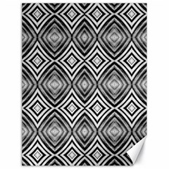 Black White Diamond Pattern Canvas 18  X 24   by Costasonlineshop