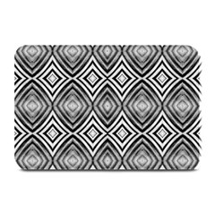 Black White Diamond Pattern Plate Mats by Costasonlineshop