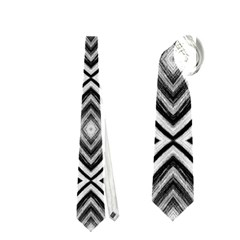 Black White Diamond Pattern Neckties (two Side)  by Costasonlineshop