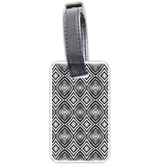 Black White Diamond Pattern Luggage Tags (two Sides) by Costasonlineshop