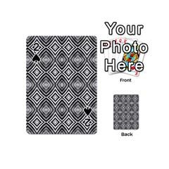 Black White Diamond Pattern Playing Cards 54 (mini)